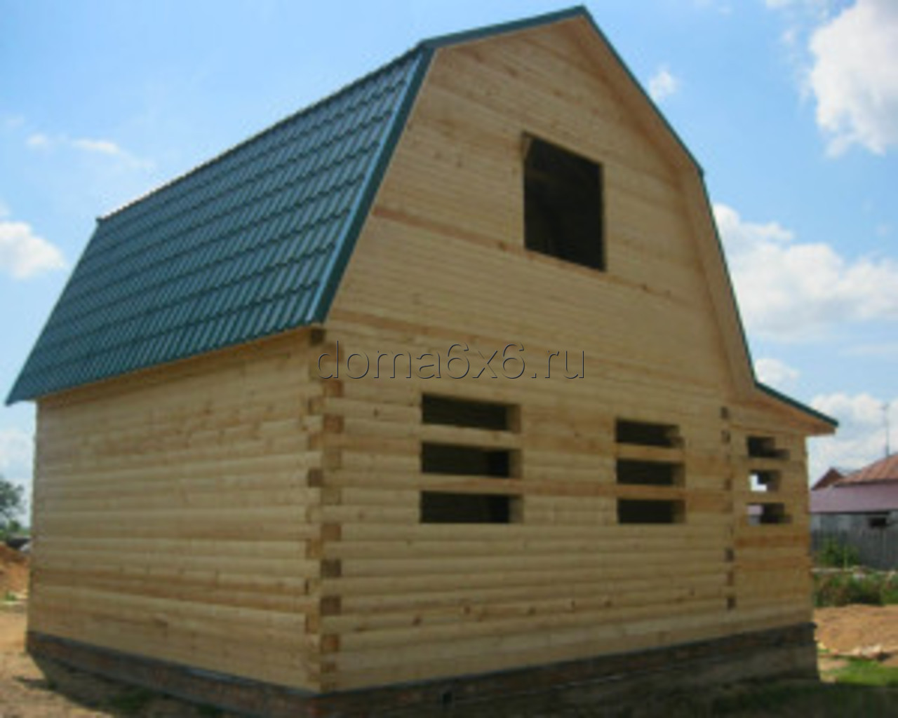 Строительство дома под усадку в Рязани -  5