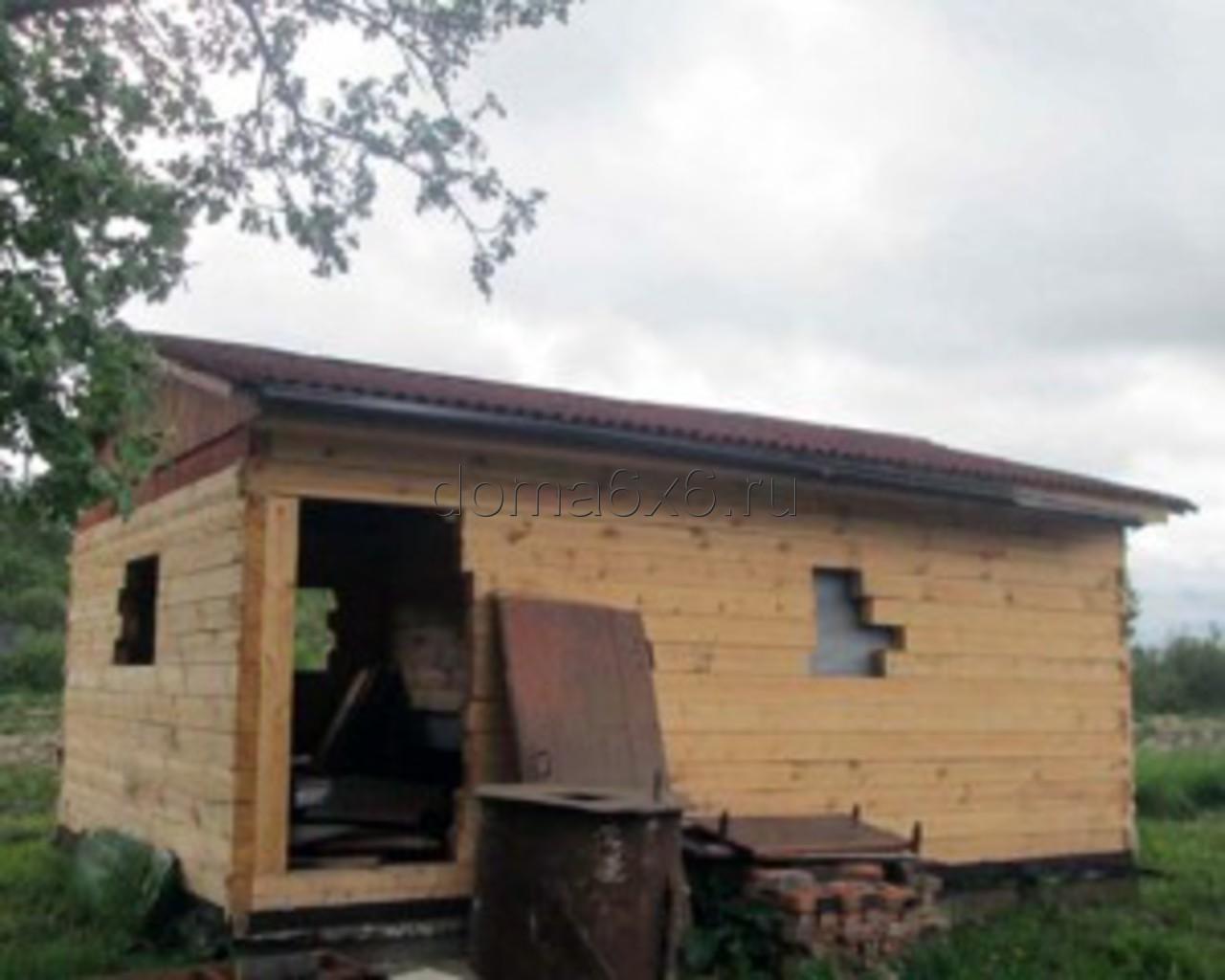 Строительство дома под усадку в Старорусском р-не - 4