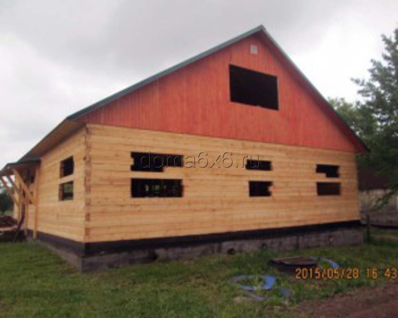 Строительство дома под усадку в Старорусском р-не - 1