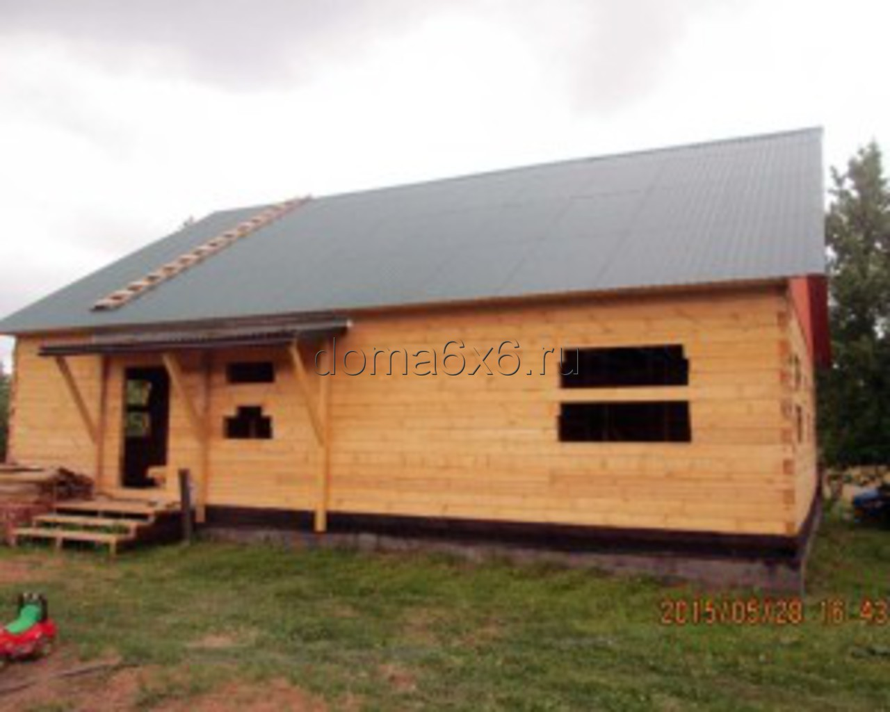 Строительство дома под усадку в Старорусском р-не - 2