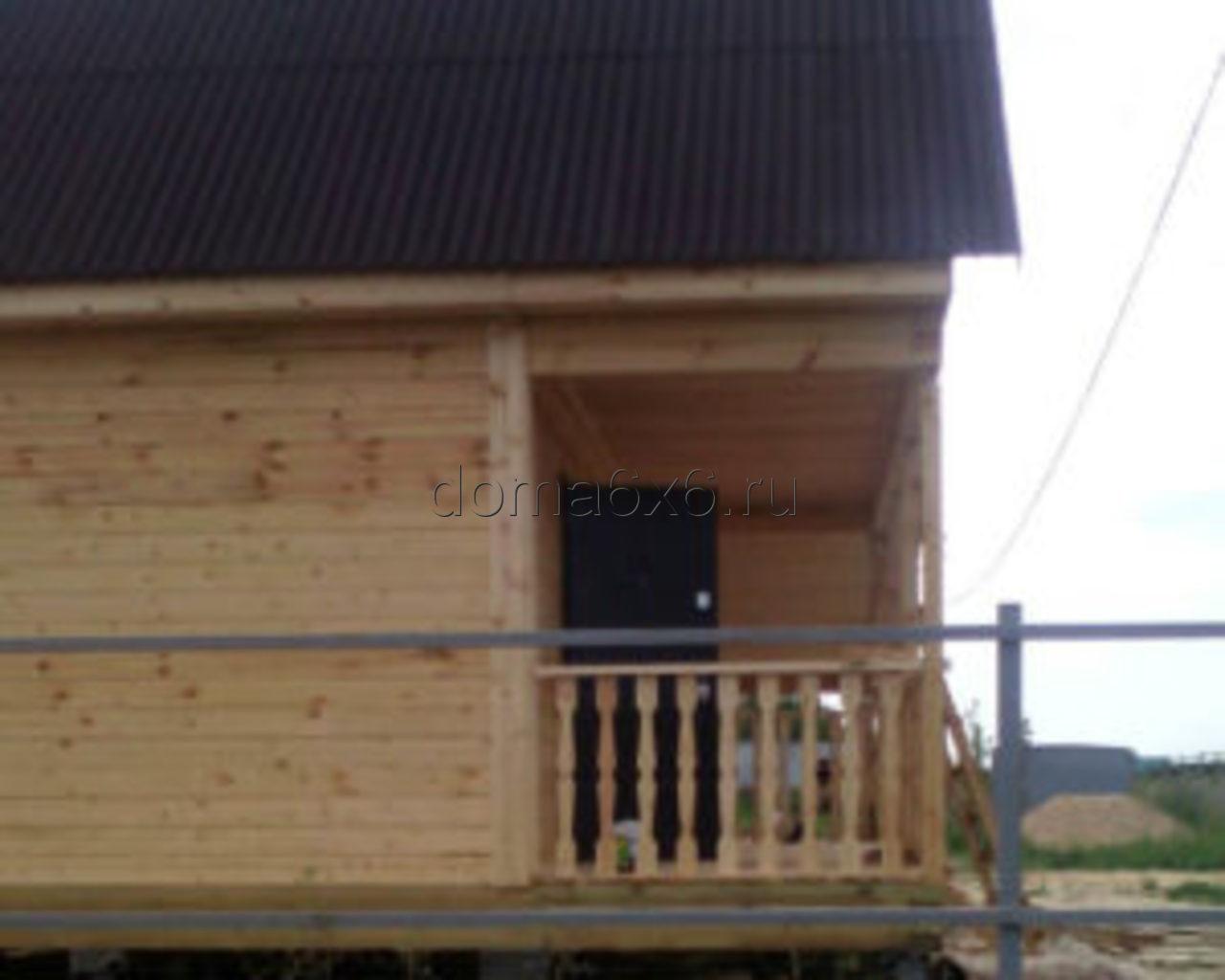 Дом из бруса с навесом в Воронеже