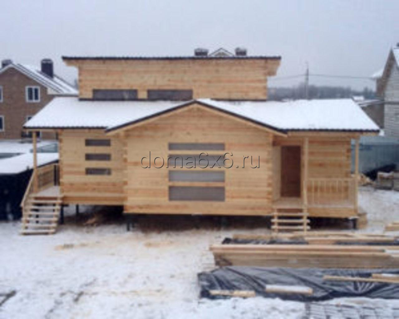 Дом из бруса под усадку в Смоленской области